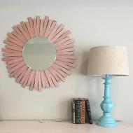 Rose Gold Starburst Mirror