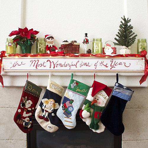 Quot Most Wonderful Time Of The Year Quot Stocking Hanger