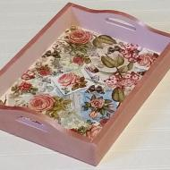 Decou-Page Tray with Rose Gold
