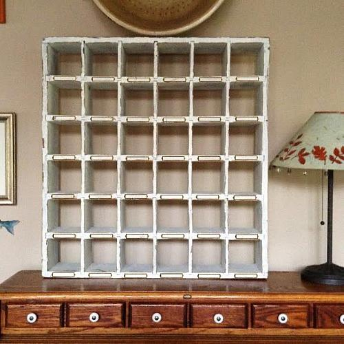 Vintage White Cubby Shelf With Nameplates Project By Decoart