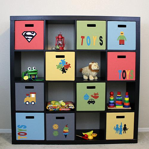 Superbe Toy Storage Bins With Custom Stencils   Project By DecoArt
