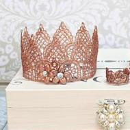 Rose Gold Lace Crowns