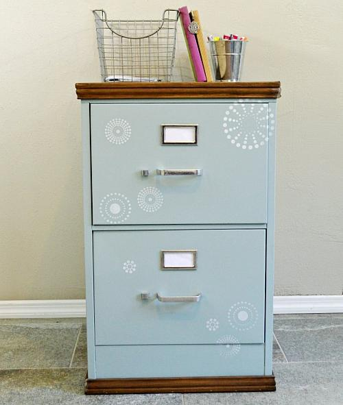 Cabinet Moldings Decorative Accents: Filing Cabinet Update With Wooden Top And Trim