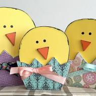 Colorful Easter Egg Chicks