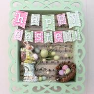 Easter Bunny Shadow Box