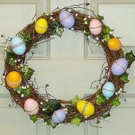 Easter Egg Wreath with Ivy