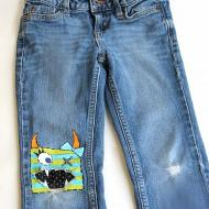 Painted Jeans | Cute Monster Face!