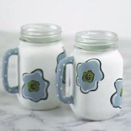 Pair of Floral Painted Mugs