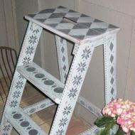 Stenciled Ladder