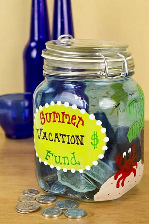 Summer Vacation Fund Jar Project By Decoart