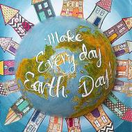 Earth Day Globe Canvas