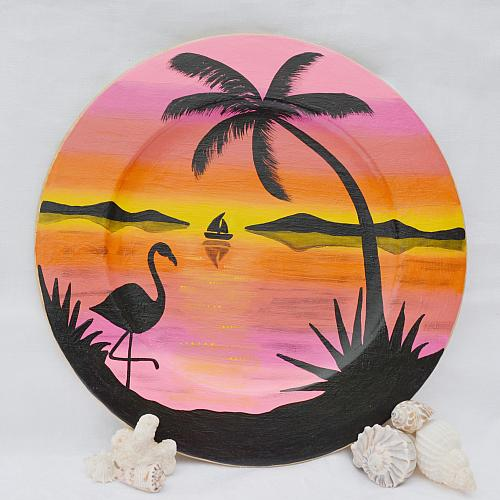 Tropical Breeze Decorative Plate Project By Decoart