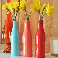 Upcycled Bottle Vases