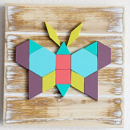 Geometric Butterfly Wall Art