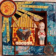Assemblage Art with Paper Scraps
