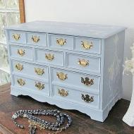 Stenciled Jewelry Box
