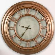 Copper Metallic Clock