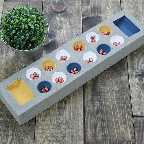 Diy Concrete Mancala Board Project By Decoart