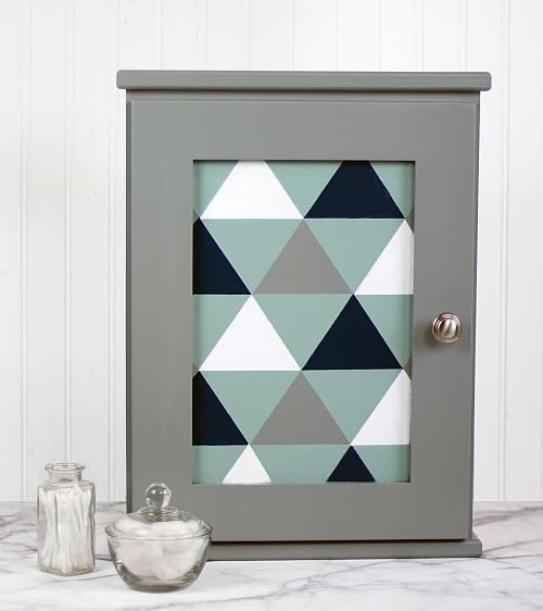 Modern Triangle Medicine Cabinet   Project By DecoArt