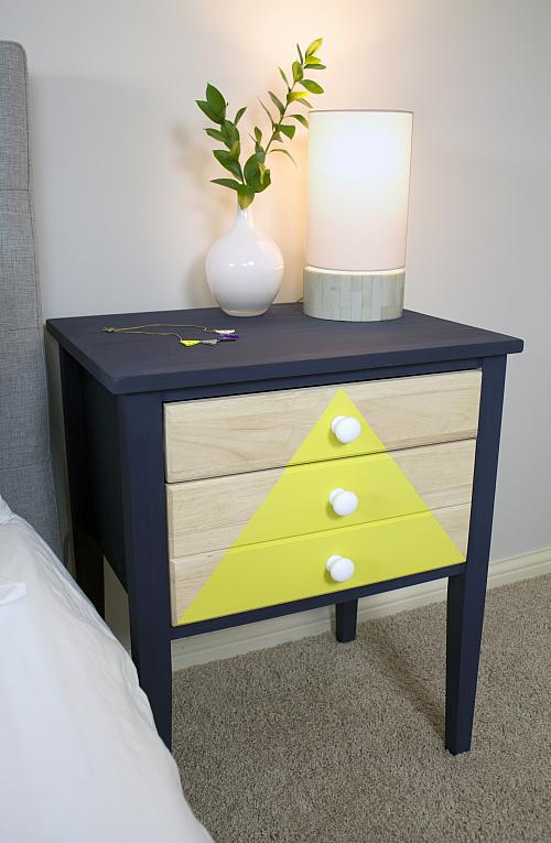 Triangle Drawer Nightstand With Raw Wood Project By Decoart