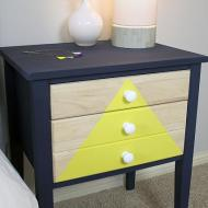 Triangle Drawer Nightstand