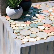 Pastel Stained Side Table