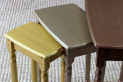 Painted Metallic Nesting Tables