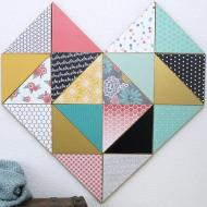 Geometric Heart or Abstract Wall Art
