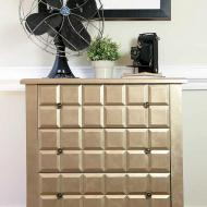 Faux Brushed Metal Dresser