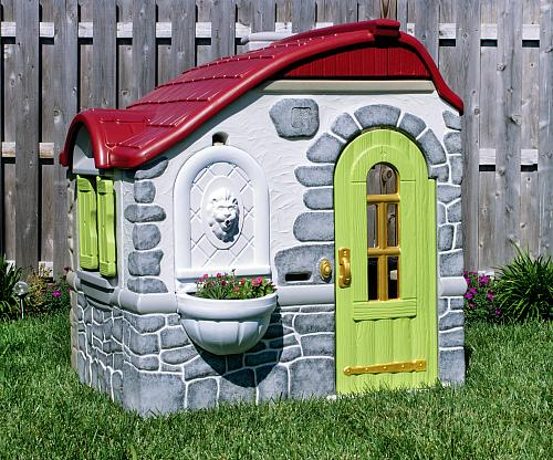 Revamped Plastic Playhouse Project By Decoart