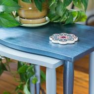Metallic Nesting Table Set