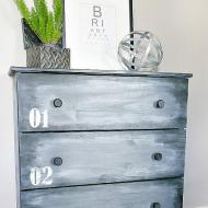 Faux Metallic Dresser