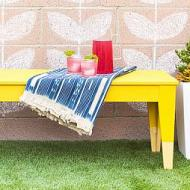Painted IKEA Outdoor Bench