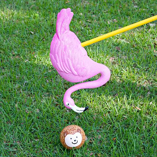 Whimsical Flamingo Croquet Set Project By Decoart