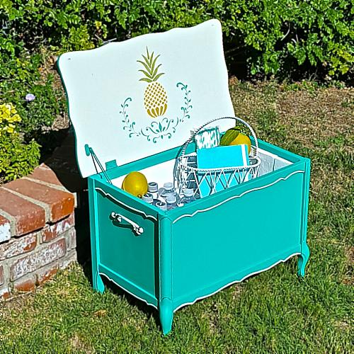 Colorful Outdoor Living Drink Cooler Project By Decoart