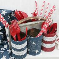 Tin Can Utensil Holder