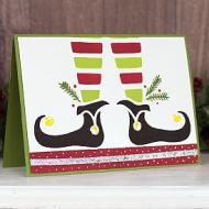 Elf Feet Christmas Card