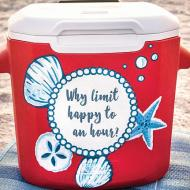 Beach Cooler with Quote