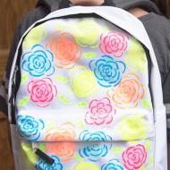 Neon Floral Backpack