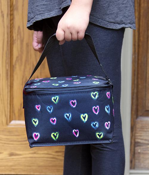Colorful Neon Heart Lunchbox