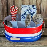 Red, White & Blue Silverware Caddy