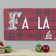 Plaid Christmas Sign