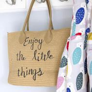 """Enjoy The Little Things"" Tote"