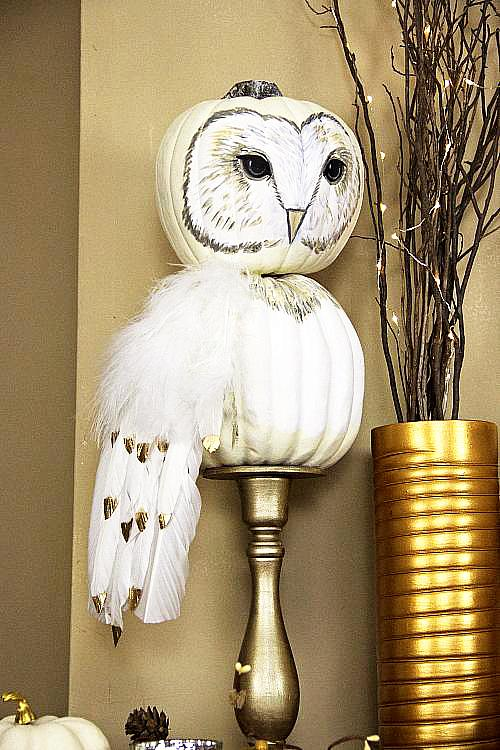 Fall Pumpkin Owl Project by DecoArt
