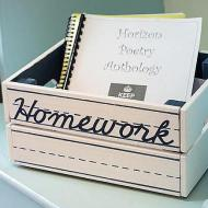 Homework Organization Crate
