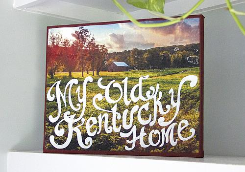 Kentucky Image Transfer with Painted Quote