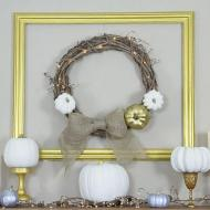 Metallic Gold Frame and Wreath