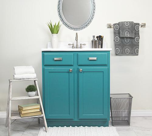 Charmant Bathroom Vanity Satin Enamel Update   Project By DecoArt