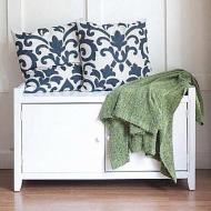 White Entryway Bench