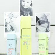 Pastel Clothespin Photo Holders